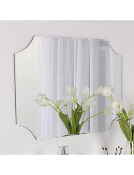 Portis Frameless Rectangle Scalloped Beveled Wall Mirror by Joss & Main