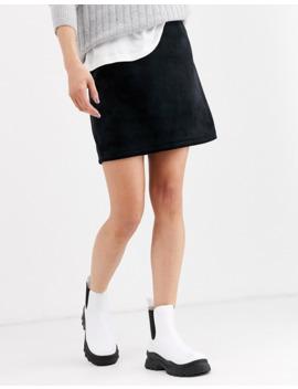 Weekday Kathy Mini Skirt In Black by Weekday