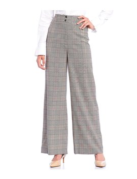 Tony Plaid Wide Leg Pant by Antonio Melani