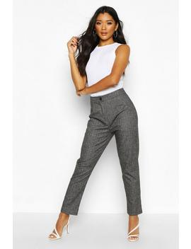 Woven Check Tapered Trousers by Boohoo
