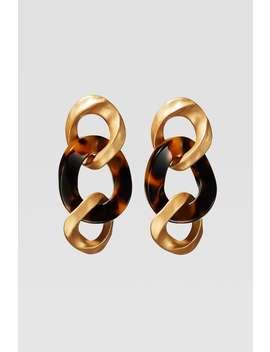 Limited Edition Tortoiseshell Link Earrings by Zara