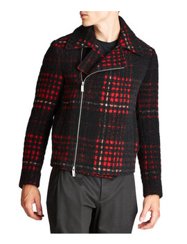 Textured Wool, Mohair & Alpaca Jacket by Emporio Armani Textured Wool, Mohair & Alpaca Jacket