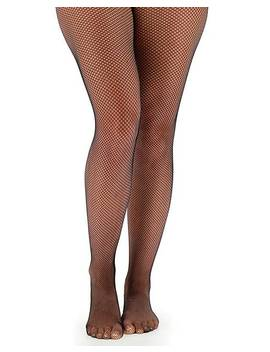 Pretty Secrets Black 1 Pack Fishnet Tights by Simply Be