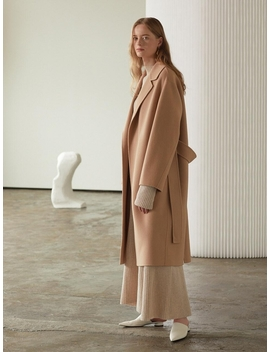 Manet Cashmere Blended Wool Coat Creamy Camel by Musee