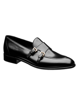 Double Buckle Leather Loafers by Prada Double Buckle Leather Loafers