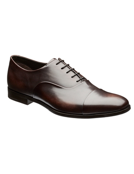 Burnished Cap Toe Oxfords by Prada Burnished Cap Toe Oxfords