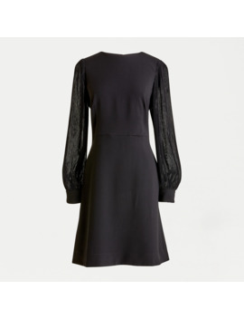 Pleated Sleeve A Line Dress by J.Crew