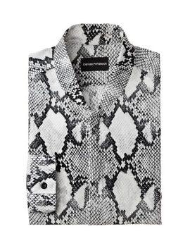 Snakeskin Satin Shirt by Emporio Armani Snakeskin Satin Shirt