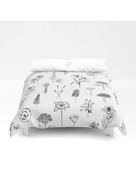 Patagonian Wildflowers White Duvet Cover by Society6