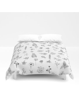 Wildflowers Iii Duvet Cover by Society6