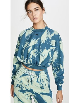Tie Dye Extra Crop Sweatshirt by Off White