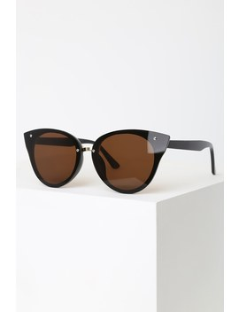 Haiden Black Cat Eye Sunglasses by Lulus