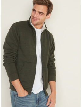 Sherpa Lined Mock Neck Zip Jacket For Men by Old Navy