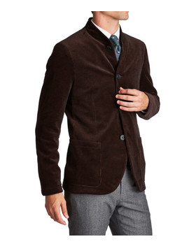Unstructured Bomber Style Sports Jacket by Harris Wharf London Unstructured Bomber Style Sports Jacket
