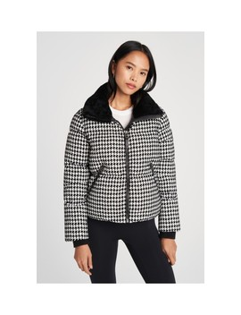 Houndstooth Shearling Jacket by Mackage