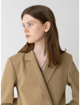 Easy Suit Jacket Beige by Chungpepe