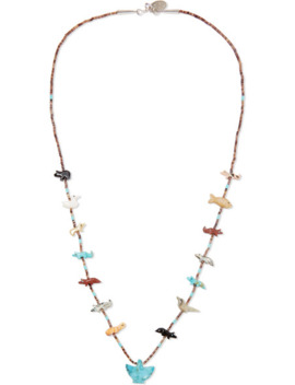 Power Animal Silver Multi Stone Necklace by Jessie Western