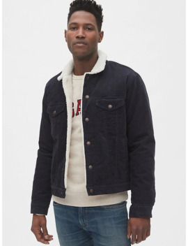 Sherpa Lined Icon Corduroy Jacket by Gap