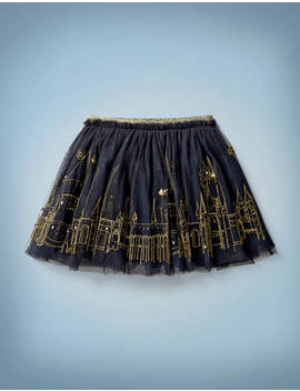 Hogwarts Embroidered Skirt by Boden