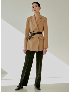 Double Tailored Jacket Beige by 38comeoncommon