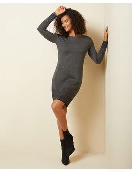 Sparkly Jacquard Sweater Dress by Rw & Co
