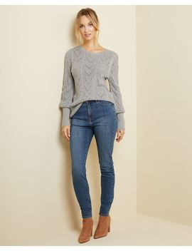 Puffy Sleeve Pointelle Sweater by Rw & Co