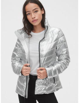Cold Control Lightweight Metallic Puffer Jacket by Gap