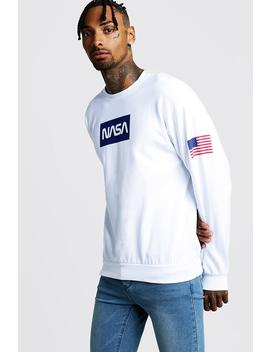 Nasa Print Sweatshirt by Boohoo