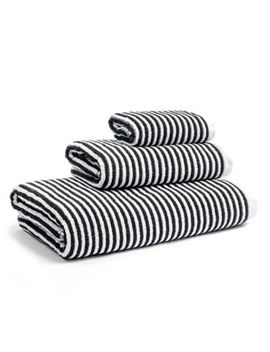 Calvin Klein Donald Bath Towel In White/Black by Bed Bath And Beyond