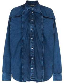 Oversized Panelled Denim Shirt by Y/Project