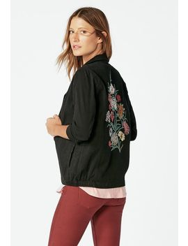 Embroidered Army Jacket by Justfab