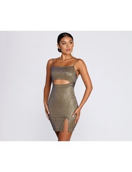 Party With Me Glitter Mini Dress by Windsor