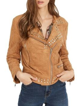 Joan Studded Moto Jacket by Buffalo David Bitton