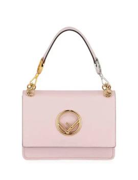 Fendi Kan Medium Leather Shoulder Bag, Pink by Fendi