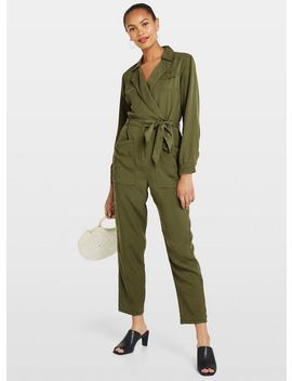 Khaki Utility Boiler Suit by Miss Selfridge