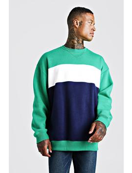 Colour Block Oversized Sweatshirt by Boohoo