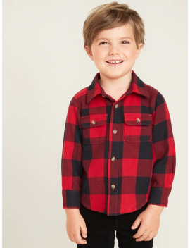 Buffalo Plaid Flannel Utility Shirt For Toddler Boys by Old Navy