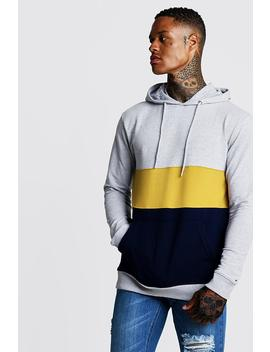 Colour Block Muscle Fit Oth Hoodie by Boohoo