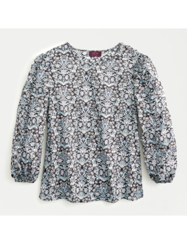 Ruffle Sleeve Top In Liberty® Sea Grass Floral by Ruffle Sleeve Top In Liberty