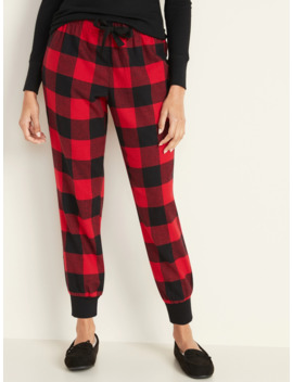 Plaid Flannel Lounge Joggers For Women by Old Navy