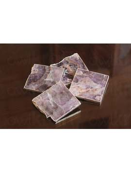 Amethyst Stone Table Coasters With Protective Backing   Tea Coasters   Agate Coasters   Dessous De Verre   Tischuntersetzer   Untersetzer by Etsy