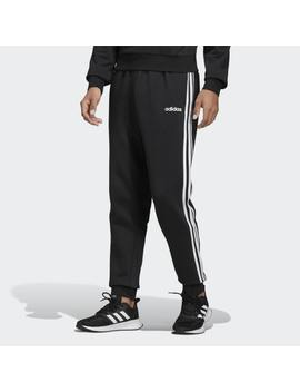 Essentials 3 Stripes Tapered Cuffed Pants by Adidas