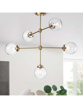 Sarret 5 Light Gold Contemporary Chandelier by Warehouse Of Tiffany