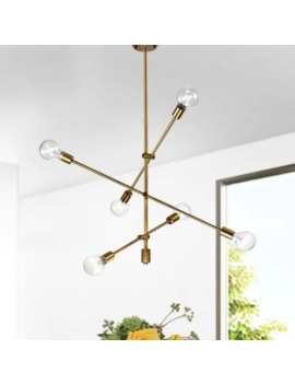 Vorka Bronze 6 Light Baton Chandelier by Warehouse Of Tiffany