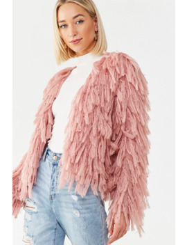 Fringe Chunky Knit Cardigan by Forever 21