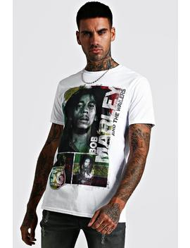Bob Marley License T Shirt by Boohoo