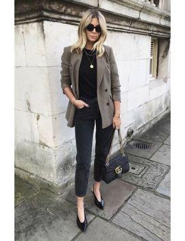 Zara Khaki Green Blazer Size M by Zara