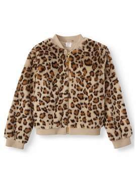 Wonder Nation Faux Fur Fashion Jacket (Little Girls, Big Girls & Plus) by Wonder Nation