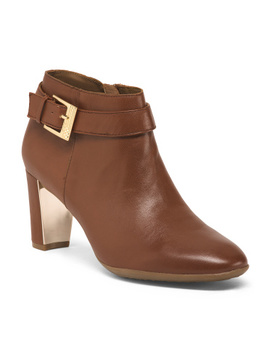 Leather Ankle Booties by Tj Maxx