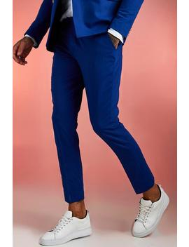 Plain Skinny Fit Suit Trouser by Boohoo